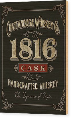 Wood Print featuring the digital art Nooga Whiskey by Greg Sharpe