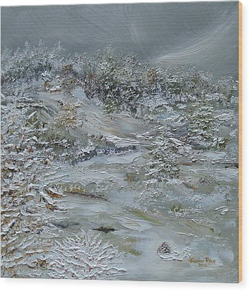 Wood Print featuring the painting Nor'easter by Judith Rhue