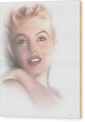 Norma Jeane Wood Print by Peter Chilelli