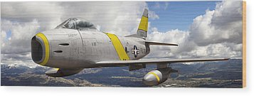 North American F-86 Sabre Wood Print by Larry McManus