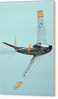 North American F-86f Sabre Nx186am Chino California April 29 2016 Wood Print by Brian Lockett