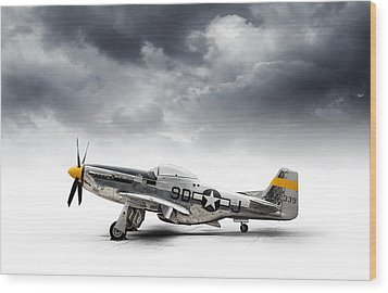 Wood Print featuring the digital art North American P-51 Mustang by Douglas Pittman