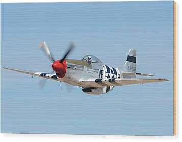 North American P-51d Mustang Nl5441v Spam Can Valle Arizona June 25 2011 1 Wood Print