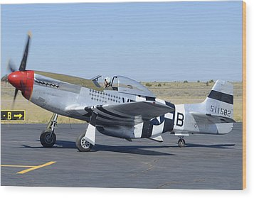 North American P-51d Mustang Nl5441v Spam Can Valle Arizona June 25 2011 3 Wood Print