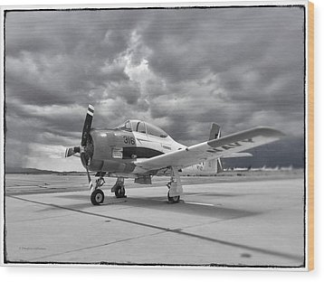 North American T-28 Wood Print