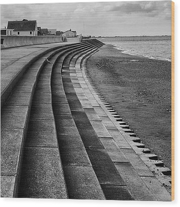 North Beach, Heacham, Norfolk, England Wood Print by John Edwards