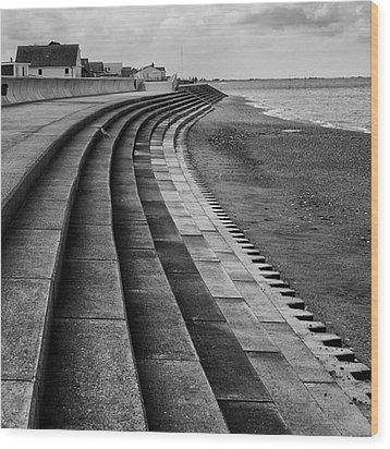 North Beach, Heacham, Norfolk, England Wood Print by John Edwards