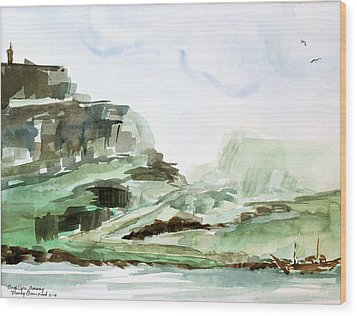 North Cape Wood Print by Nancy Brennand