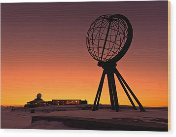 North Cape Norway At The Northernmost Point Of Europe Wood Print by Ulrich Schade