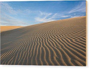 North Carolina Jockey's Ridge State Park Sand Dunes Wood Print by Mark VanDyke