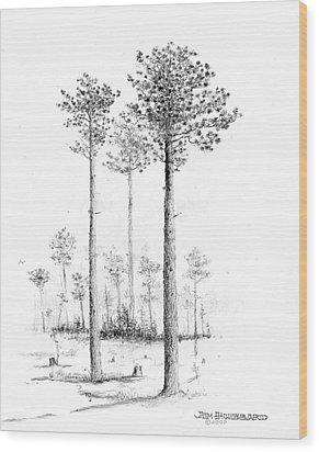 North Carolina- Southern Longleaf Pine Wood Print