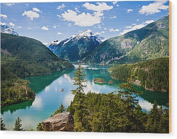 North Cascades Wood Print by Niels Nielsen
