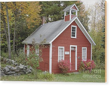 North District School House - Dorchester New Hampshire Wood Print