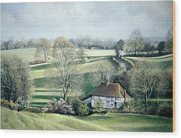 North Downs Hideaway Wood Print