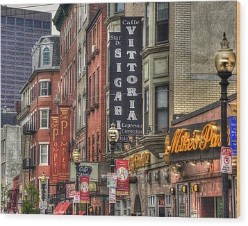 North End Charm 11x14 Wood Print by Joann Vitali
