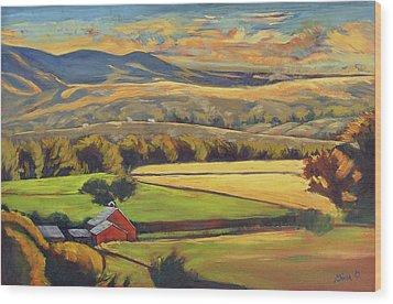 North Fork Panorama Wood Print