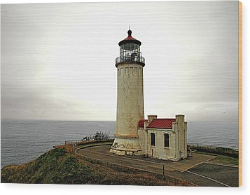 North Head Lighthouse - Graveyard Of The Pacific - Ilwaco Wa Wood Print by Christine Till