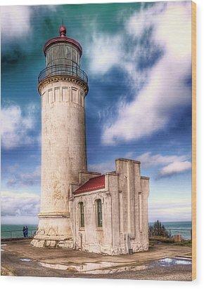 North Head Lighthouse - Washington Coast Wood Print by Greg Sigrist