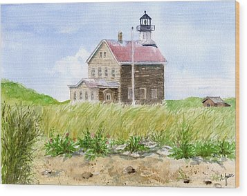 North Light - Block Island Wood Print