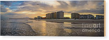 North Myrtle Beach Sunset Wood Print