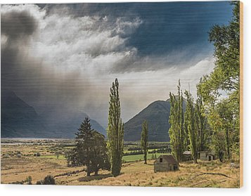 Wood Print featuring the photograph North Of Glenorchy by Gary Eason