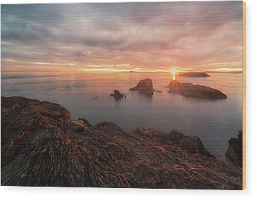 North Puget Sound Sunset Wood Print by Ryan Manuel