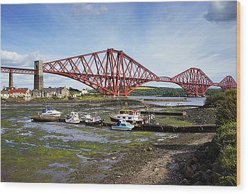 Wood Print featuring the photograph North Queensferry by Jeremy Lavender Photography