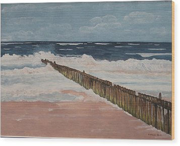 North Sea Sylt Wood Print by Antje Wieser