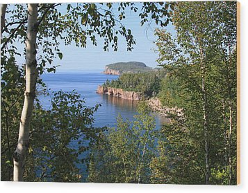 North Shore Lake Superior Wood Print