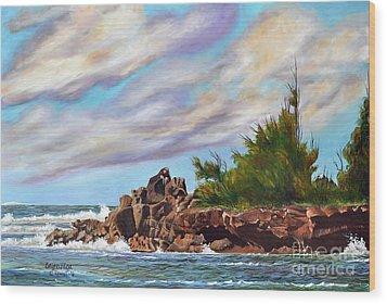 North Shore Oahu Wood Print