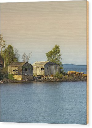 North Shore Old Buildings Wood Print by Bill Tiepelman