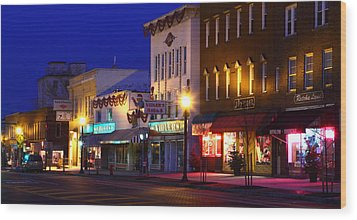 Wood Print featuring the photograph North Side Of East End Of Main Street by Don Nieman