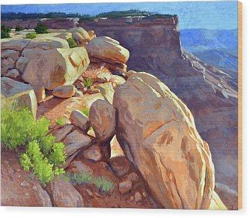 North Towards Moab Wood Print