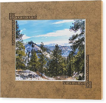 Wood Print featuring the photograph North View by Susan Kinney