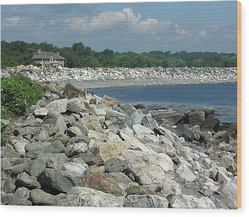 Northeast Us, Atlantic Coast, Rye Nh Wood Print by Betty Denise
