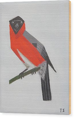 Northern Bullfinch Wood Print
