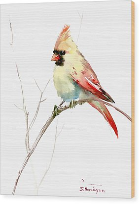 Northern Cardinal,female Wood Print by Suren Nersisyan