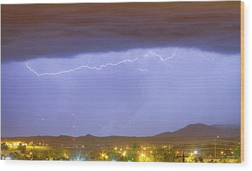 Northern Colorado Rocky Mountain Front Range Lightning Storm  Wood Print by James BO  Insogna