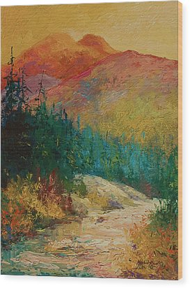 Northern Essence  Wood Print by Marion Rose
