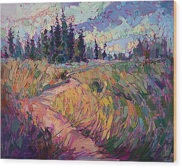 Northern Firs Wood Print by Erin Hanson