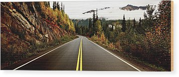 Northern Highway Yukon Wood Print by Mark Duffy