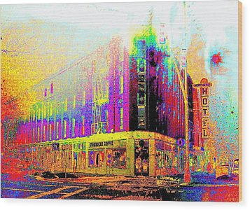 Northern Hotel Wood Print by Jeff Gibford