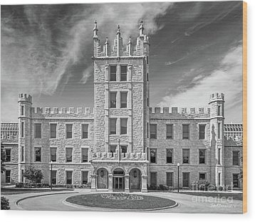 Northern Illinois University Altgeld Hall Wood Print by University Icons