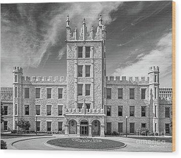 Northern Illinois University Altgeld Hall Wood Print by University Icons