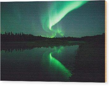 Northern Lights Alaska Wood Print