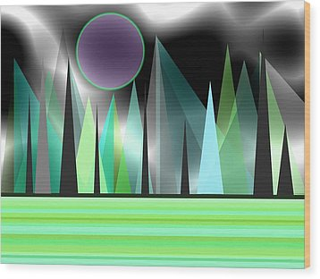 Northern Lights Wood Print by Kathleen Sartoris