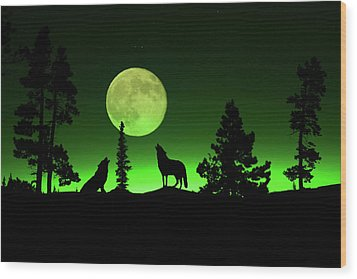 Northern Lights Wood Print by Shane Bechler