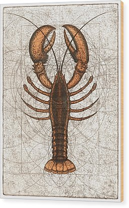 Northern Lobster Wood Print by Charles Harden