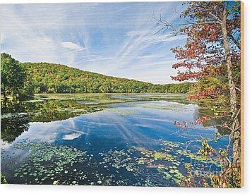 Northern New Jersey Lake Wood Print by Ryan Kelly