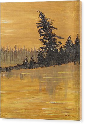 Wood Print featuring the painting Northern Ontario Three by Ian  MacDonald